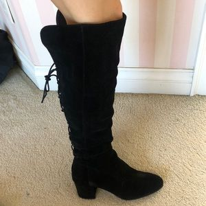 Steve Madden Hansil Over-the-Knee Suede Boots 10
